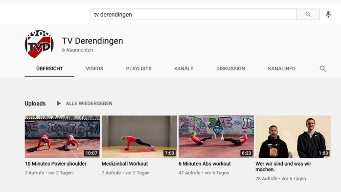 TV Derendingen auf YouTube